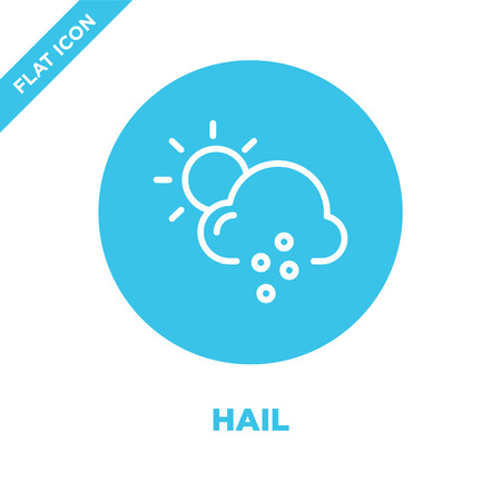 hail icon vector from weather collection. Thin line hail outline icon vector  illustration. Linear symbol for use on web and mobile apps, logo, print media.