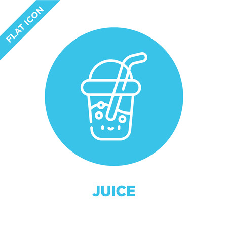 juice icon vector from take away collection. Thin line juice outline icon vector  illustration. Linear symbol for use on web and mobile apps, logo, print media. Stock Illustratie