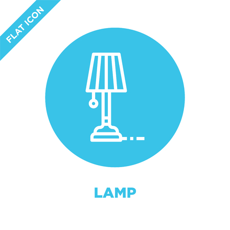 lamp icon vector from furnitures collection. Thin line lamp outline icon vector  illustration. Linear symbol for use on web and mobile apps, logo, print media.