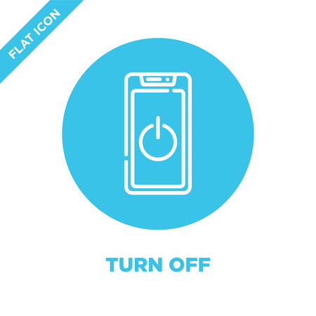 turn off icon vector from smart home collection. Thin line turn off outline icon vector  illustration. Linear symbol for use on web and mobile apps, logo, print media.