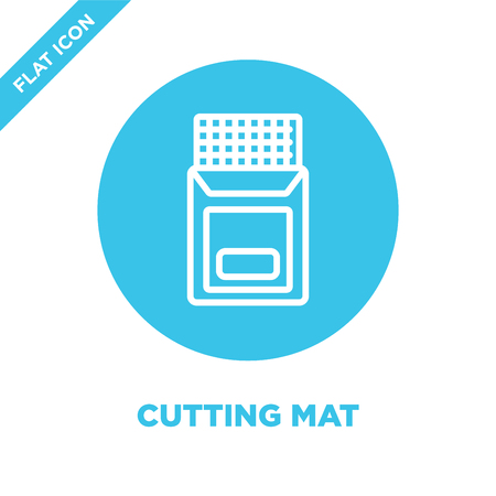 cutting mat icon vector from stationery collection. Thin line cutting mat outline icon vector  illustration. Linear symbol for use on web and mobile apps, logo, print media.