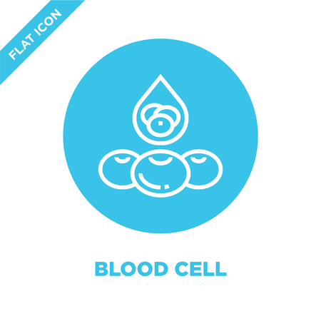 blood cell icon vector from human organs collection. Thin line blood cell outline icon vector  illustration. Linear symbol for use on web and mobile apps, logo, print media. Illustration