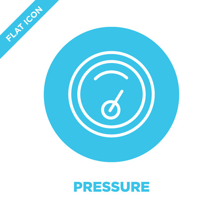 pressure icon vector from weather collection. Thin line pressure outline icon vector  illustration. Linear symbol for use on web and mobile apps, logo, print media. Illustration