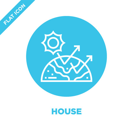 greenhouse icon vector from global warming collection. Thin line greenhouse outline icon vector  illustration. Linear symbol for use on web and mobile apps, logo, print media. Banque d'images - 123241949