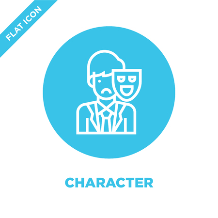 character icon vector from corruption elements collection. Thin line character outline icon vector  illustration. Linear symbol for use on web and mobile apps, logo, print media.