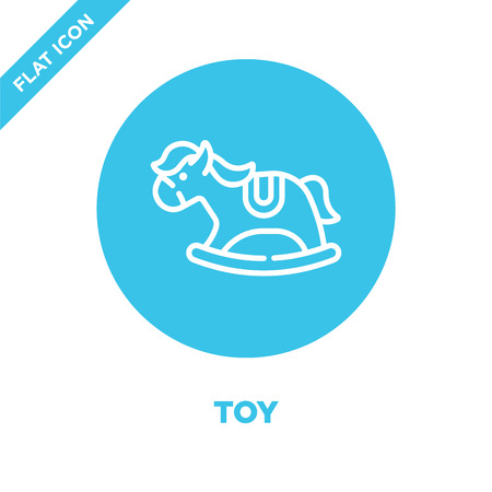toy icon vector from baby toys collection. Thin line toy outline icon vector  illustration. Linear symbol for use on web and mobile apps, logo, print media. Illustration