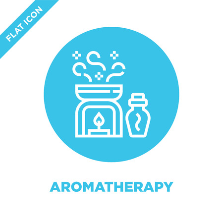 aromatherapy icon vector from healthy life collection. Thin line aromatherapy outline icon vector  illustration. Linear symbol for use on web and mobile apps, logo, print media. Stock Vector - 123242426