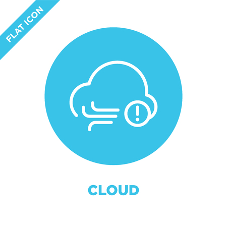 cloud icon vector from weather collection. Thin line cloud outline icon vector  illustration. Linear symbol for use on web and mobile apps, logo, print media.