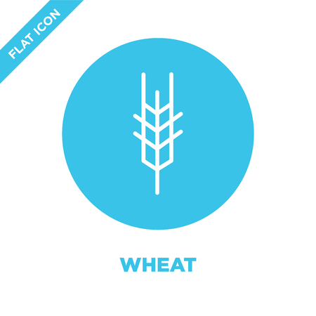 wheat icon vector from seasons collection. Thin line wheat outline icon vector  illustration. Linear symbol for use on web and mobile apps, logo, print media.