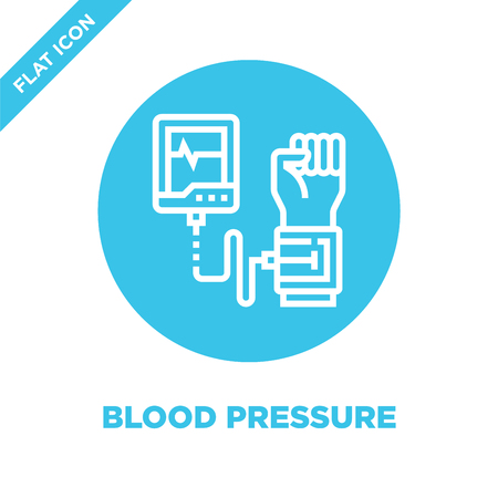 blood pressure icon vector from healthy life collection. Thin line blood pressure outline icon vector  illustration. Linear symbol for use on web and mobile apps, logo, print media.