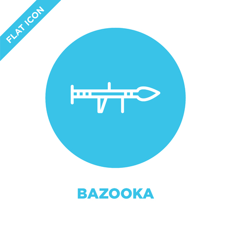 bazooka icon vector from military collection. Thin line bazooka outline icon vector  illustration. Linear symbol for use on web and mobile apps, logo, print media.