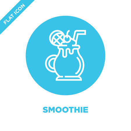 smoothie icon vector from beverage collection. Thin line smoothie outline icon vector  illustration. Linear symbol for use on web and mobile apps, logo, print media. Illustration