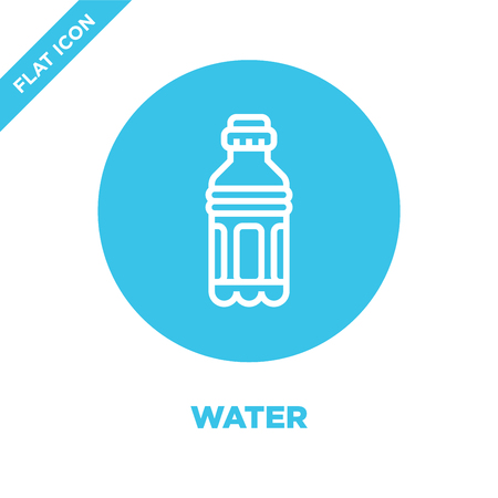 water icon vector from beverage collection. Thin line water outline icon vector  illustration. Linear symbol for use on web and mobile apps, logo, print media.