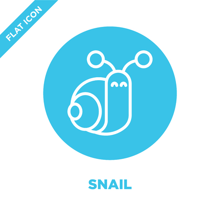 snail icon vector from seasons collection. Thin line snail outline icon vector  illustration. Linear symbol for use on web and mobile apps, logo, print media. 向量圖像