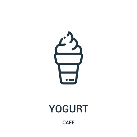 yogurt icon vector from cafe collection. Thin line yogurt outline icon vector illustration. Linear symbol for use on web and mobile apps, logo, print media.