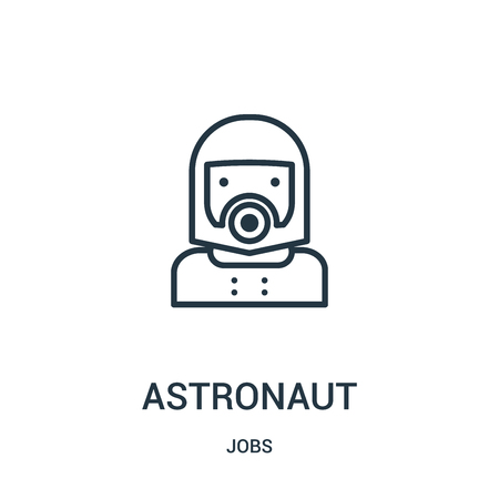 astronaut icon vector from jobs collection. Thin line astronaut outline icon vector illustration. Linear symbol for use on web and mobile apps, logo, print media.
