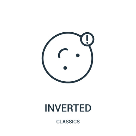 inverted icon vector from classics collection. Thin line inverted outline icon vector illustration. Linear symbol for use on web and mobile apps, logo, print media. Vettoriali