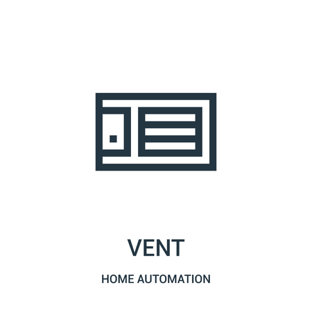 vent icon vector from home automation collection. Thin line vent outline icon vector illustration. Linear symbol for use on web and mobile apps, logo, print media.