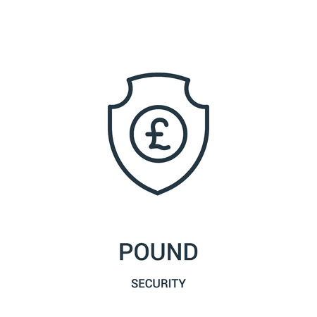 pound icon vector from security collection. Thin line pound outline icon vector illustration. Linear symbol for use on web and mobile apps, logo, print media.