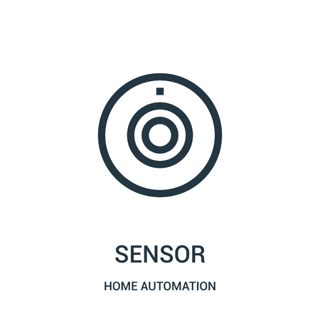 sensor icon vector from home automation collection. Thin line sensor outline icon vector illustration. Linear symbol for use on web and mobile apps, logo, print media.