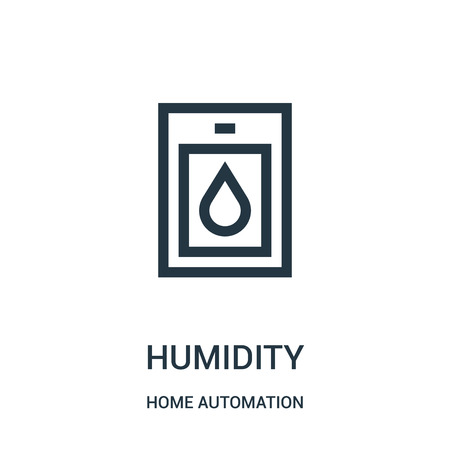 humidity icon vector from home automation collection. Thin line humidity outline icon vector illustration. Linear symbol for use on web and mobile apps, logo, print media.