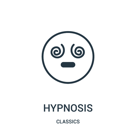 hypnosis icon vector from classics collection. Thin line hypnosis outline icon vector illustration. Linear symbol for use on web and mobile apps, logo, print media.