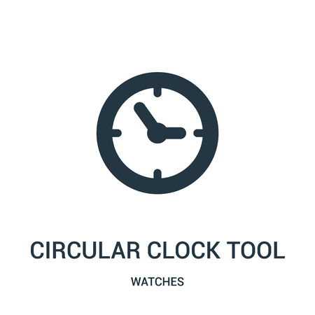 circular clock tool icon vector from watches collection. Thin line circular clock tool outline icon vector illustration. Linear symbol for use on web and mobile apps, logo, print media. Illustration