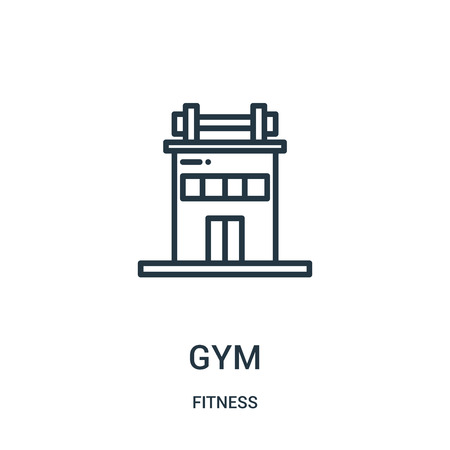 gym icon vector from fitness collection. Thin line gym outline icon vector illustration. Linear symbol for use on web and mobile apps, logo, print media.