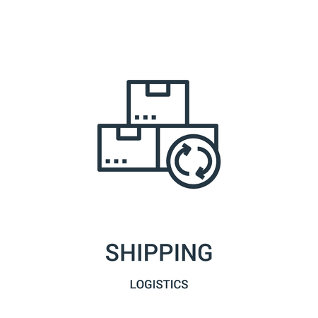 shipping icon vector from logistics collection. Thin line shipping outline icon vector illustration. Linear symbol for use on web and mobile apps, logo, print media.