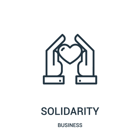 solidarity icon vector from business collection. Thin line solidarity outline icon vector illustration. Linear symbol for use on web and mobile apps, logo, print media. Illustration