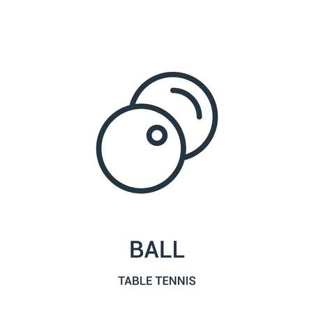 ball icon vector from table tennis collection. Thin line ball outline icon vector illustration. Linear symbol for use on web and mobile apps, logo, print media. Illustration