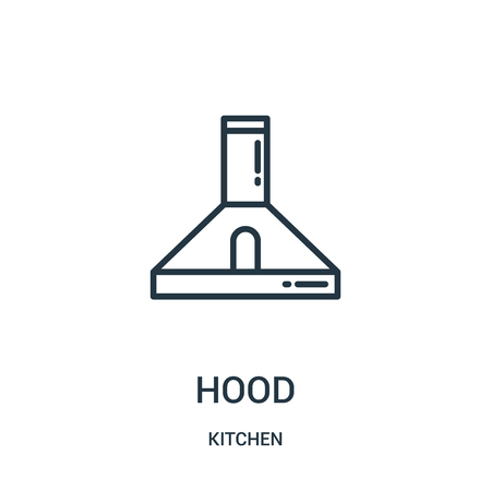 hood icon vector from kitchen collection. Thin line hood outline icon vector illustration. Linear symbol for use on web and mobile apps, logo, print media.