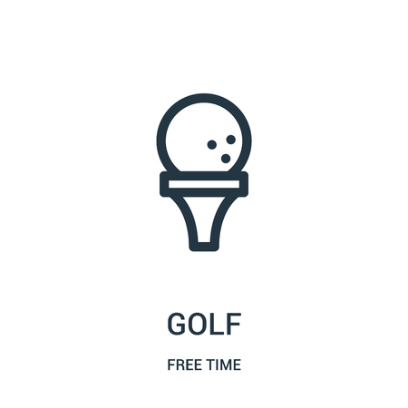 golf icon vector from free time collection. Thin line golf outline icon vector illustration. Linear symbol for use on web and mobile apps, logo, print media.
