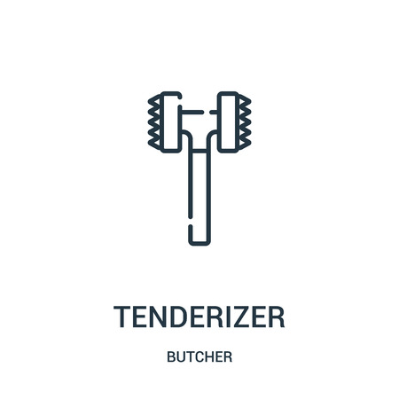tenderizer icon vector from butcher collection. Thin line tenderizer outline icon vector illustration. Linear symbol for use on web and mobile apps, logo, print media.