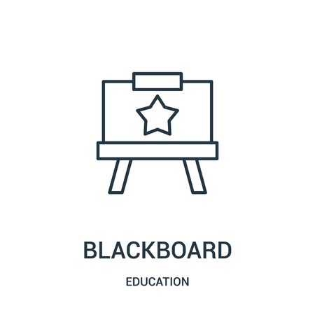 blackboard icon vector from education collection. Thin line blackboard outline icon vector illustration. Linear symbol for use on web and mobile apps, logo, print media.