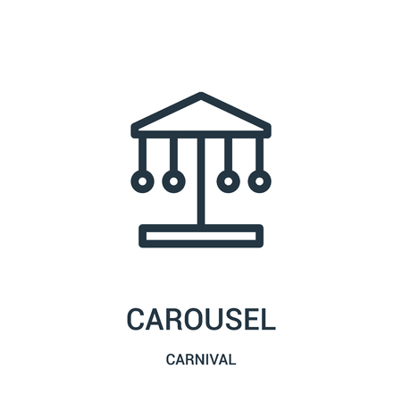 carousel icon vector from carnival collection. Thin line carousel outline icon vector illustration. Linear symbol for use on web and mobile apps, logo, print media.