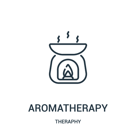 aromatherapy icon vector from theraphy collection. Thin line aromatherapy outline icon vector illustration. Linear symbol for use on web and mobile apps, logo, print media. Stock Vector - 123472239