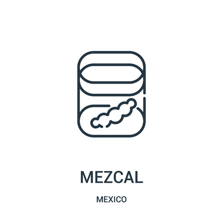 mezcal icon vector from mexico collection. Thin line mezcal outline icon vector illustration. Linear symbol for use on web and mobile apps, logo, print media.