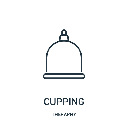 cupping icon vector from theraphy collection. Thin line cupping outline icon vector illustration. Linear symbol for use on web and mobile apps, logo, print media.