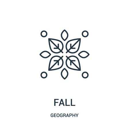 fall icon vector from geography collection. Thin line fall outline icon vector illustration. Linear symbol for use on web and mobile apps, logo, print media. Stok Fotoğraf - 124036625