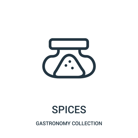 spices icon vector from gastronomy collection collection. Thin line spices outline icon vector illustration. Linear symbol for use on web and mobile apps, logo, print media.