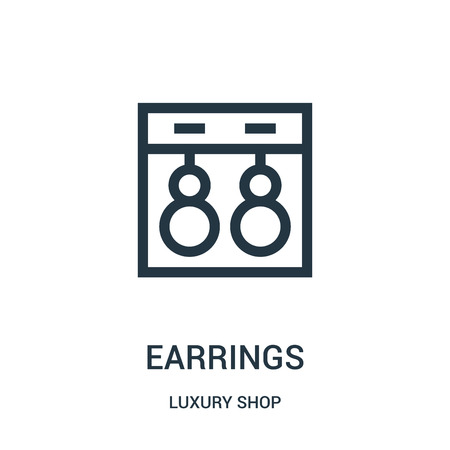 earrings icon vector from luxury shop collection. Thin line earrings outline icon vector illustration. Linear symbol for use on web and mobile apps, logo, print media.