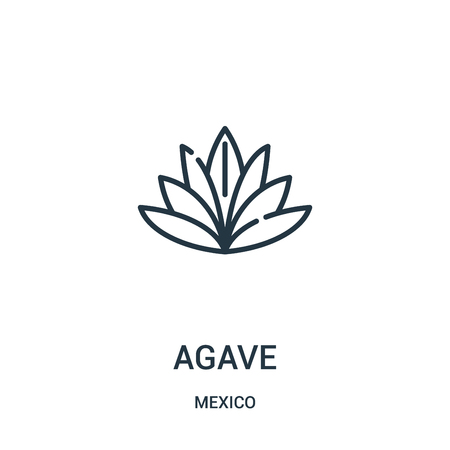 agave icon vector from mexico collection. Thin line agave outline icon vector illustration. Linear symbol for use on web and mobile apps, logo, print media.