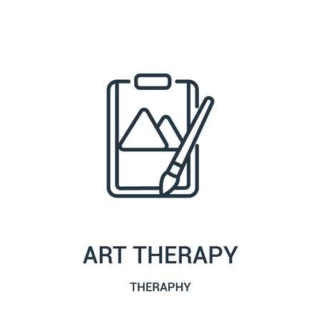 art therapy icon vector from theraphy collection. Thin line art therapy outline icon vector illustration. Linear symbol for use on web and mobile apps, logo, print media. Illustration