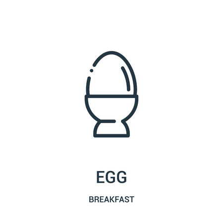 egg icon vector from breakfast collection. Thin line egg outline icon vector illustration. Linear symbol for use on web and mobile apps, logo, print media.