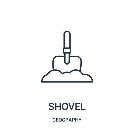 shovel icon vector from geography collection. Thin line shovel outline icon vector illustration. Linear symbol for use on web and mobile apps, logo, print media.