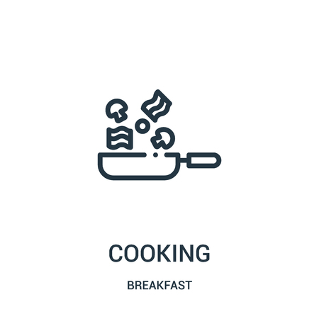 cooking icon vector from breakfast collection. Thin line cooking outline icon vector illustration. Linear symbol for use on web and mobile apps, logo, print media.