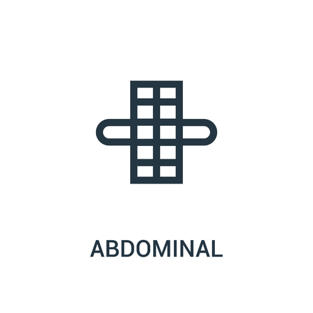 abdominal icon vector from gym collection. Thin line abdominal outline icon vector illustration. Linear symbol for use on web and mobile apps, logo, print media.