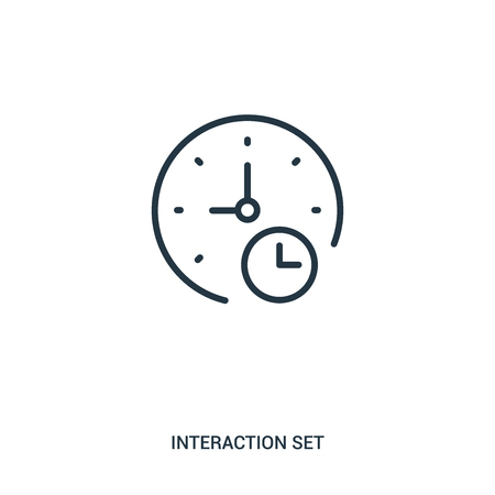 signs icon vector from interaction set collection. Thin line signs outline icon vector illustration. Linear symbol for use on web and mobile apps, logo, print media. 向量圖像