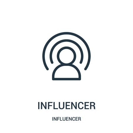 influencer icon vector from influencer collection. Thin line influencer outline icon vector illustration. Linear symbol for use on web and mobile apps, logo, print media. Logo